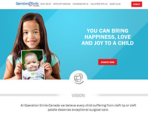 screenshot of Operation Smile Canada